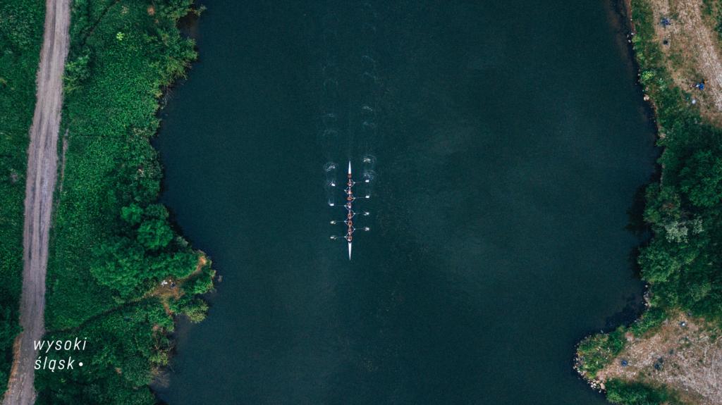 wysoki slask kajak fotografia z drona odra